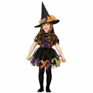 Halloween zwart heksen verkleedkleding voor meisjes