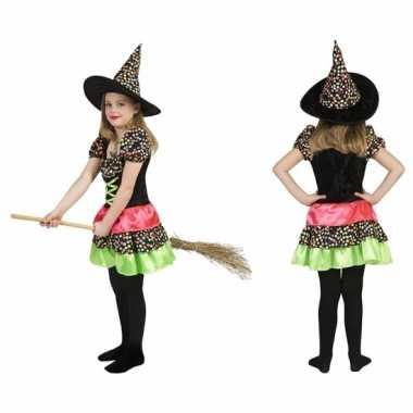 Heksen verkleedkleding jurk incl. hoed