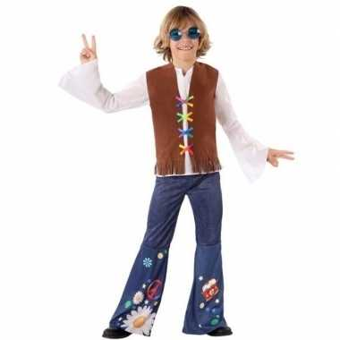 Hippie/flower power verkleed verkleedkleding voor jongens