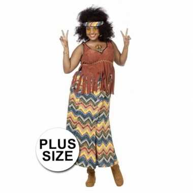 Hippie verkleedkleding grote maat