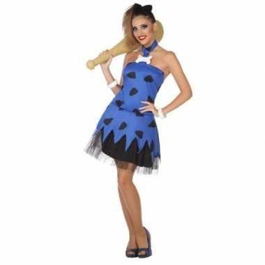 Holbewoonster/cavewoman betty verkleed verkleedkleding/jurk voor dame