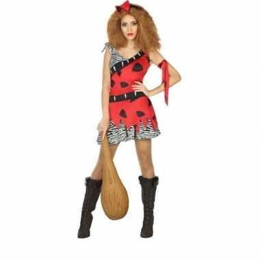Holbewoonster/cavewoman loana verkleed verkleedkleding/jurk dames