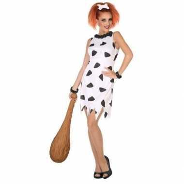 Holbewoonster/cavewoman wilma verkleed verkleedkleding/jurk voor dame