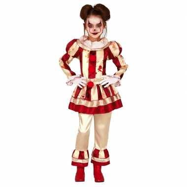 Horror clown candy verkleed verkleedkleding voor meisjes