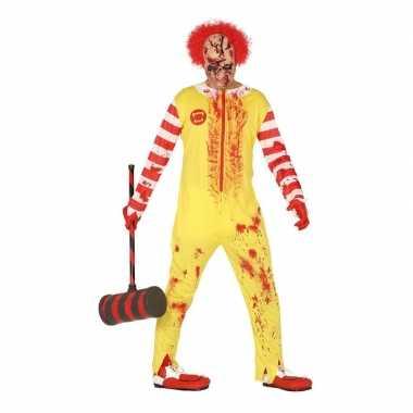 Horror clown ronald verkleed verkleedkleding voor heren