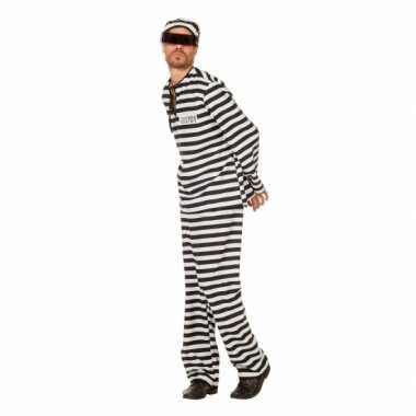 Inbreker verkleedkleding zwart/wit voor heren