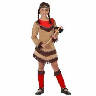 Indiaan chinouk verkleedkleding voor meisjes rood