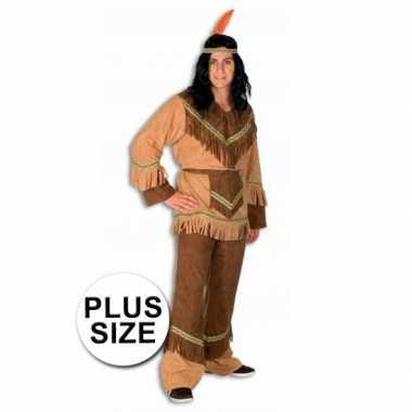 Indianen verkleedkleding in grote maten
