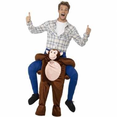 Instap dierenpak verkleedkleding aap voor volwassenen