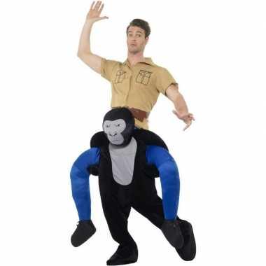 Instap dierenpak verkleedkleding gorilla voor volwassenen