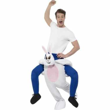 Instap dierenpak verkleedkleding konijn/haas voor volwassenen