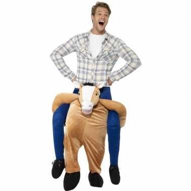 Instap dierenpak verkleedkleding paard voor volwassenen