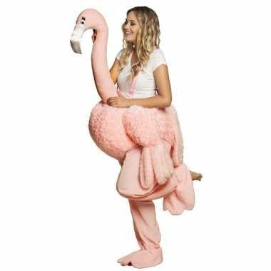 Instap verkleedkleding flamingo voor volwassenen