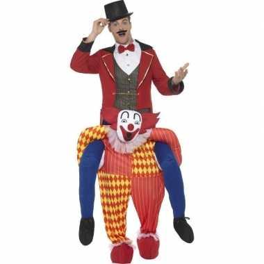 Instapverkleedkleding circus clown voor volwassenen