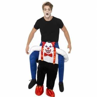 Instapverkleedkleding enge horror clown voor volwassenen