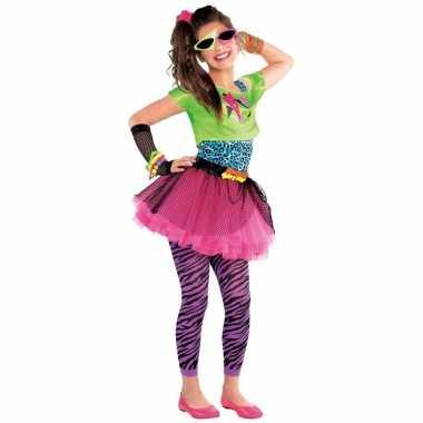 Jaren 80 disco verkleedkleding feestkleding voor meisjes 10 12 jaar