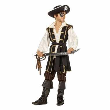 Jongens piraten verkleedkleding bruin