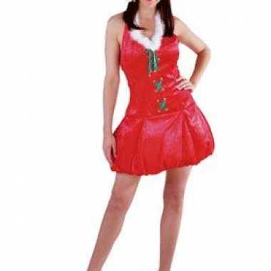 Kerst verkleedkleding met muts voor dames