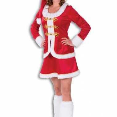 Kerst verkleedkleding voor dames rood fluweel