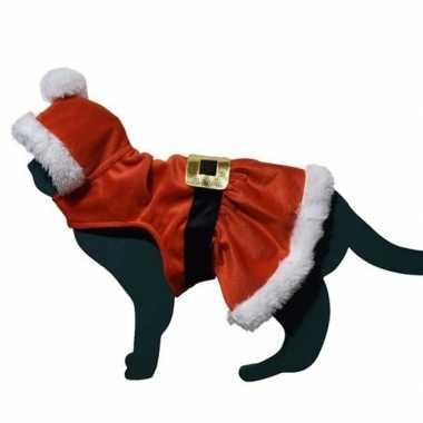 Kerstman pakje verkleedkleding voor kat/poes