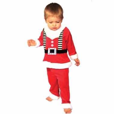 Kerstmannen verkleedkleding voor peuters