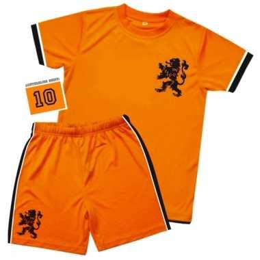 Kids oranje voetbal verkleedkleding