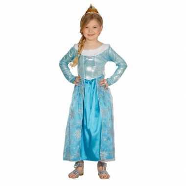 Kinderverkleedkleding blauw prinses jurkje