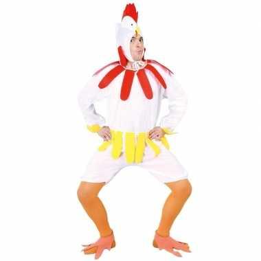 Kip/haan verkleedkleding wit voor volwassenen