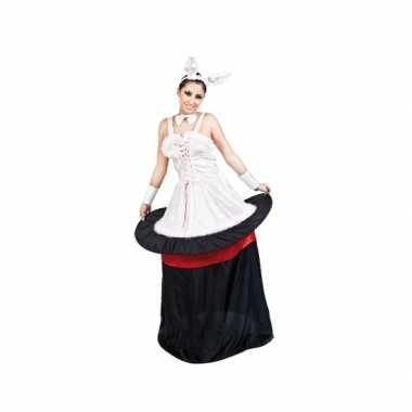 Konijn in hoed dames verkleedkleding