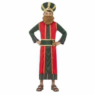 Koning caspar verkleedkleding voor jongens 3 koningen kerst verkleedk