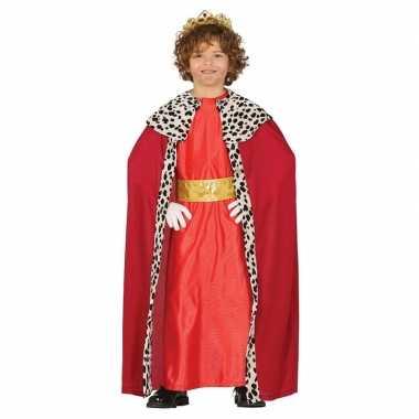 Koning mantel rood verkleedverkleedkleding voor kinderen