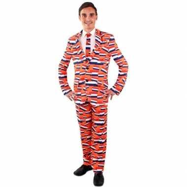 Koningsdag verkleedkleding vlag nederland pak voor heren