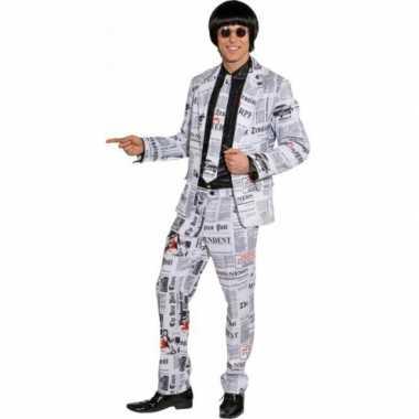 Kranten verkleedkleding voor heren