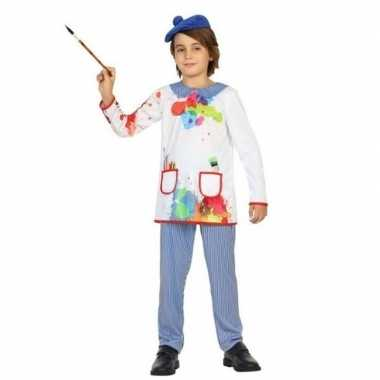 Kunstschilder verkleed verkleedkleding picassio voor kinderen