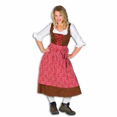 Lang tiroler verkleedkleding voor dames