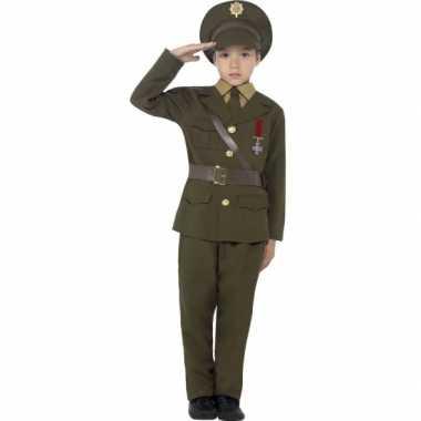 Leger officier verkleed verkleedkleding voor kids