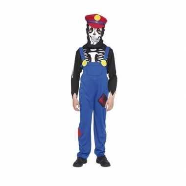 Loodgieter halloween skelet verkleedkleding voor kinderen