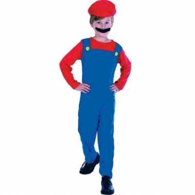 Loodgieter mario verkleed verkleedkleding voor kinderen