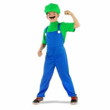 Loodgieter verkleedkleding groen voor jongens
