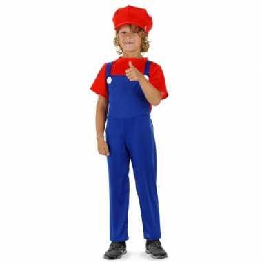 Loodgieter verkleedkleding rood voor jongens
