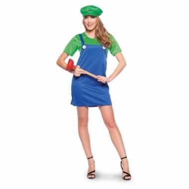 Luigi dames verkleedkleding