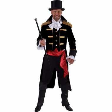 Luxe circus directeur verkleedkleding zwart voor heren 10064067