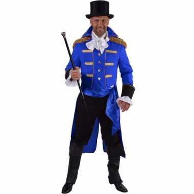 Luxe circus directeur verkleedkleding zwart voor heren