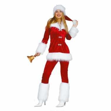 Luxe dames verkleedkleding voor de kerst