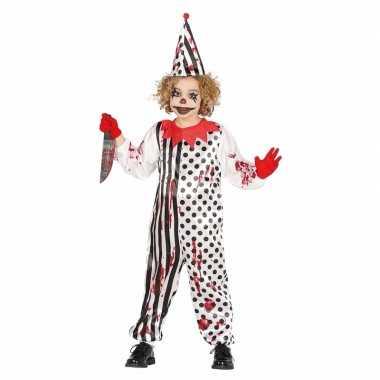 Luxe halloween verkleedkledings horror pierrot voor kids