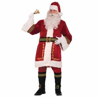 Luxe kerstman verkleedkleding voor heren