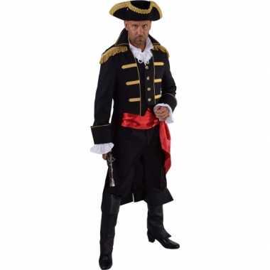 Luxe piraat verkleedkleding zwart voor heren
