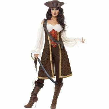 Luxe piraten verkleedkleding voor dames
