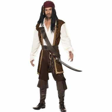 Luxe piraten verkleedkleding voor heren