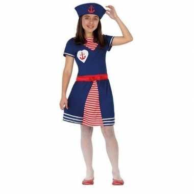 Matrozen verkleed jurkje/verkleedkleding voor meisjes